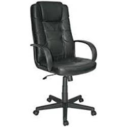 SILLON MODELO EXECUTIVE PIEL COLOR NEGRO