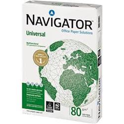 NAVIGATOR PAQUETE 500 HOJAS PAPEL UNIVERSAL FORMATO A4 80 G.A4 (CAJA DE 5 UDS)