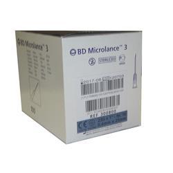 AGUJA HIPODÉRMICA 23G 1 (25X0,6MM) BD MICROLANCE (PAQUETE DE 100 UDS)