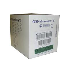 AGUJA HIPODÉRMICA 21G 1 (25X0,8MM) BD MICROLANCE (PAQUETE DE 100 UDS)