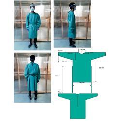 BATA IMPERMEABLE PVC REUTILIZABLE COLOR VERDE (MANGA LARGA Y PUÑO ELASTICO)
